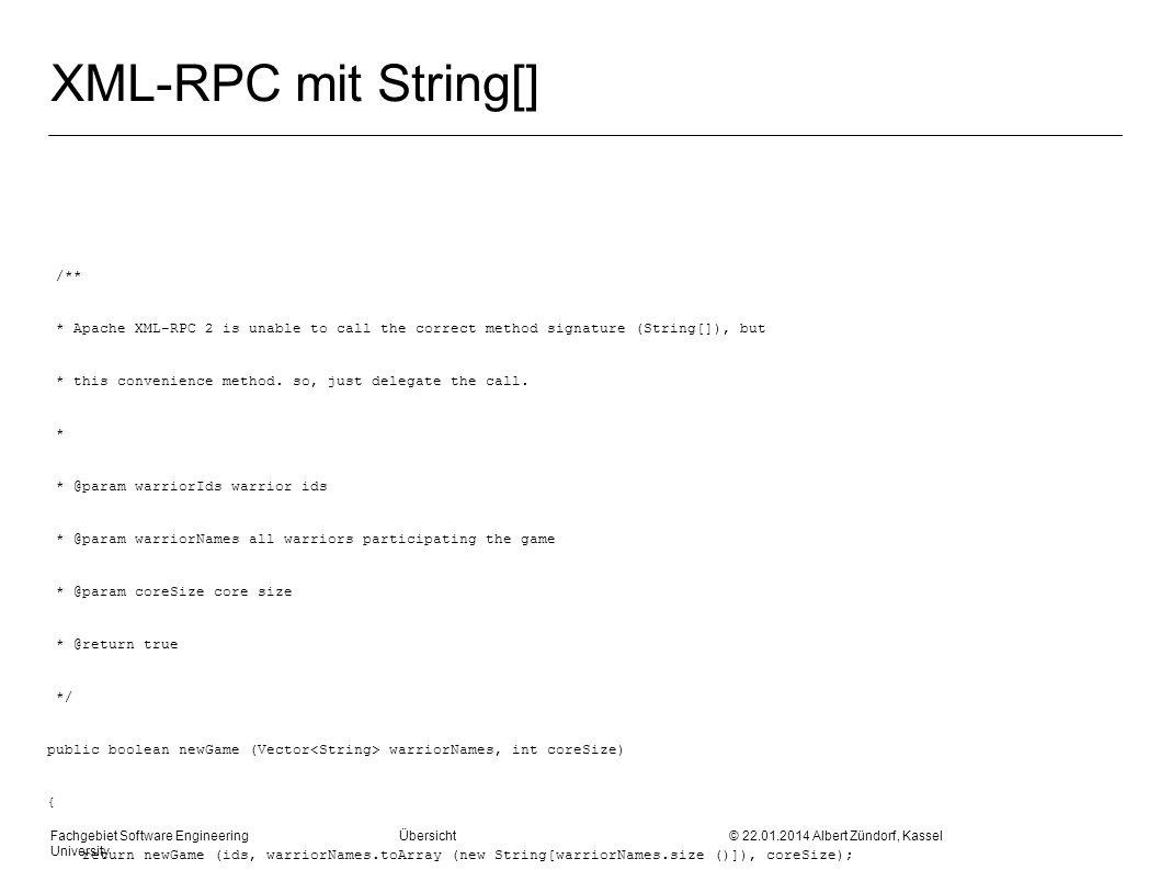 XML-RPC mit String[] /**